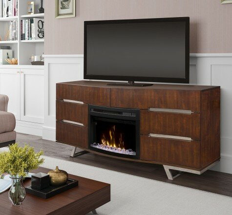 Valentina 72 TV Stand with Fireplace by Dimplex