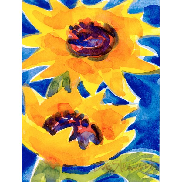 Sunflower House Vertical Flag by Caroline's Treasures