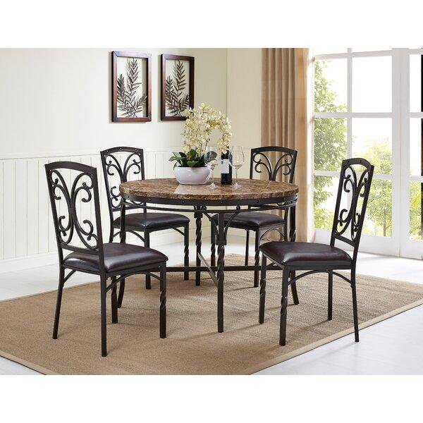 Vaughan 5 Piece Dining Table Set by Fleur De Lis Living