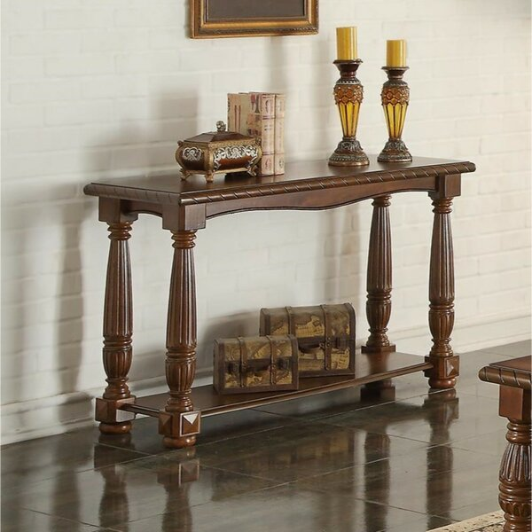 Fleur De Lis Living Brown Console Tables