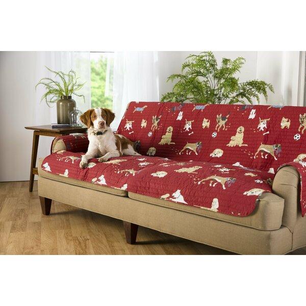 Sales Dog Park Box Cushion Loveseat Slipcover