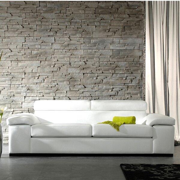 Patio Furniture Valrie Top Grain Leather Sofa