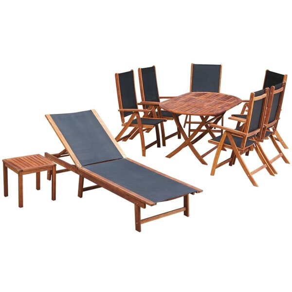 Kober 9 Piece Dining Set by Union Rustic