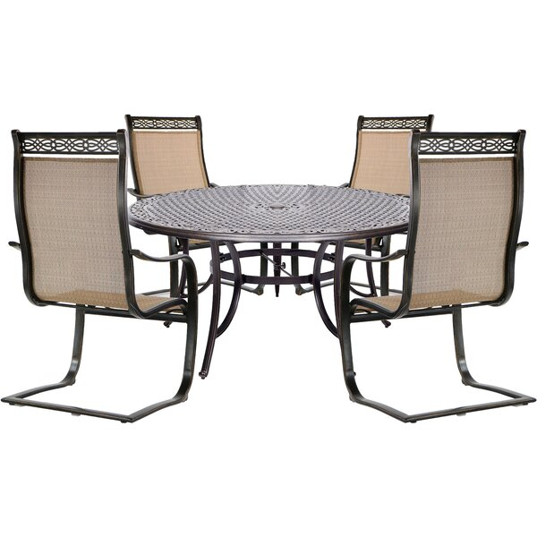 Buariki 5 Piece Dining Set by Fleur De Lis Living