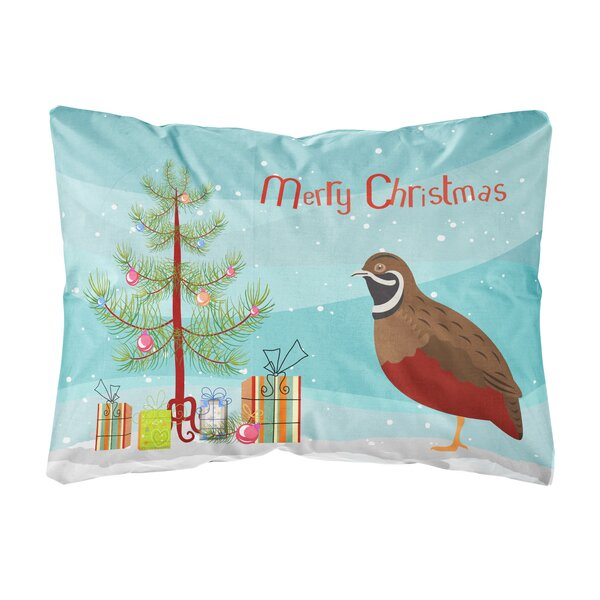 Fontinella Chinese Painted or King Quail Christmas Indoor/Outdoor Throw Pillow by The Holiday Aisle