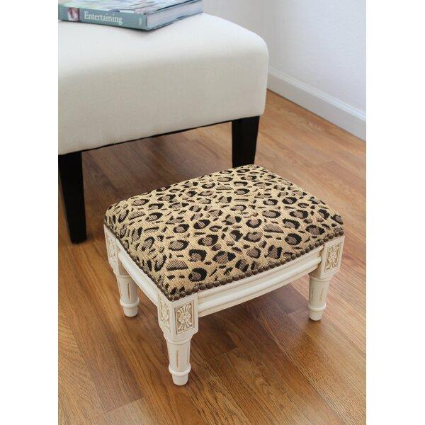 Spadina Leopard Ottoman By Bloomsbury Market