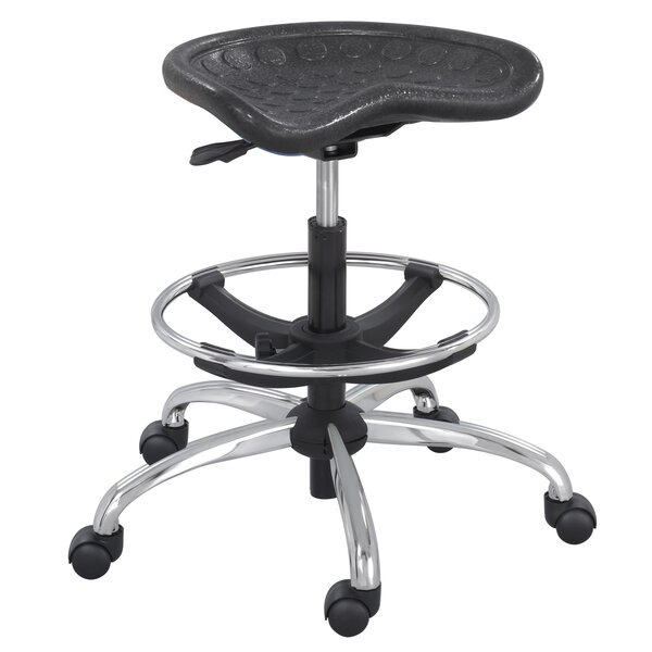 Upper Vobster Stool with Footring and Casters