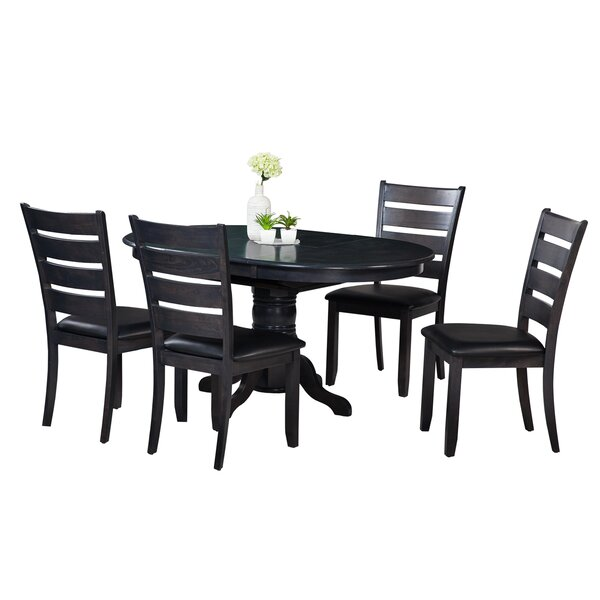 Maryrose 5 Piece Solid Wood Dining Set with Butterfly Leaf Table by Darby Home Co