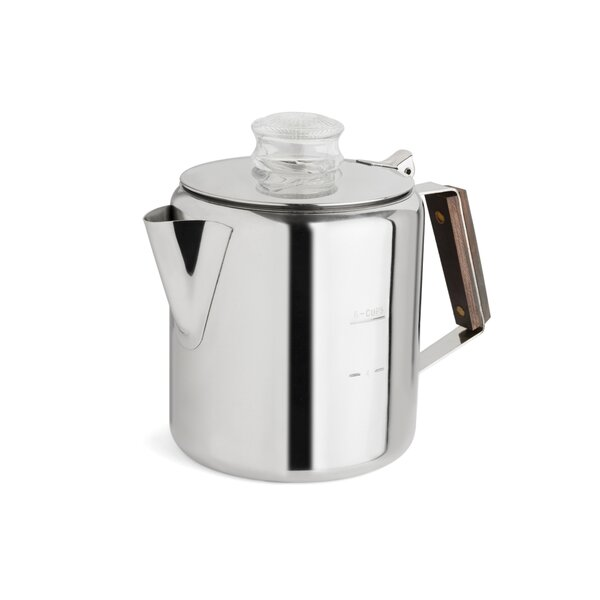 2-6 Cup Rapid Brew Stainless Steel Percolator by Tops