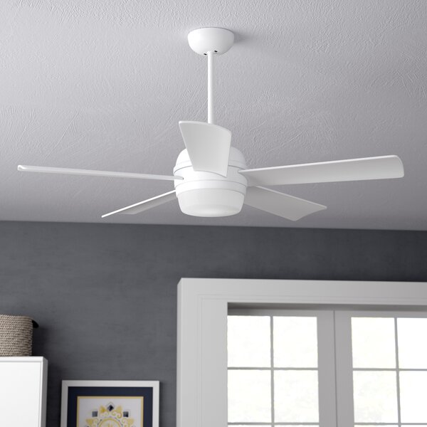 52 Argelia 5 Blade LED Ceiling Fan by Zipcode Desi