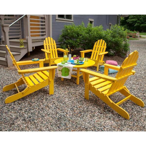 Classic Adirondack 5-Piece Conversation Group by POLYWOOD®
