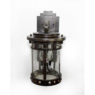 Inexpensive Casa Grande 3-Light Outdoor Wall Lantern By Loon Peak