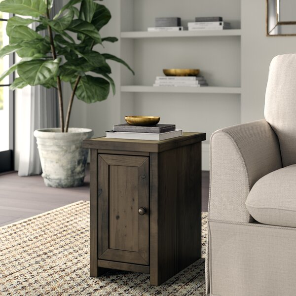 Columbia End Table with Storage by Greyleigh