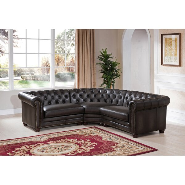 Review Altura Leather Symmetrical Modular Sectional