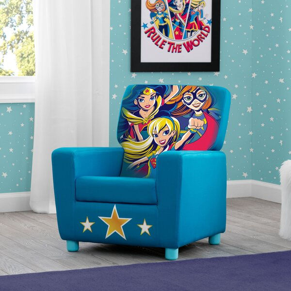 DC Super Heroes Kids Faux Leather Chair by Delta Children