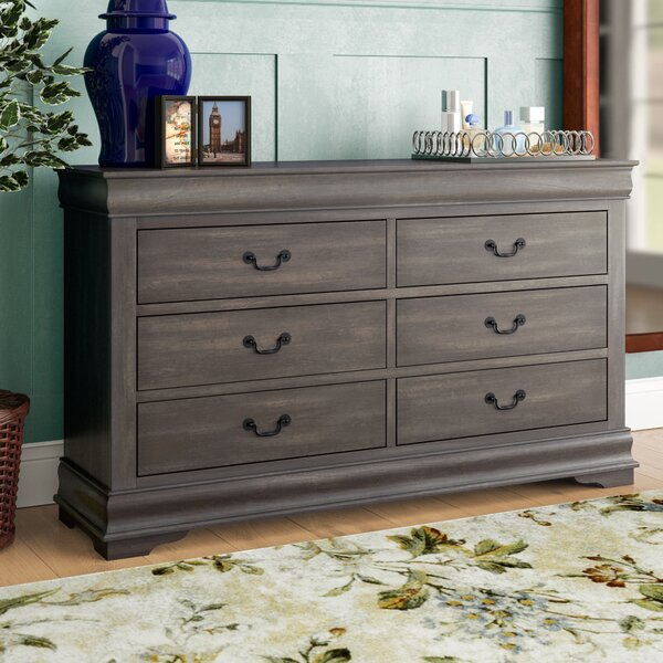 Trafford 6 Drawer Double Dresser by Charlton Home