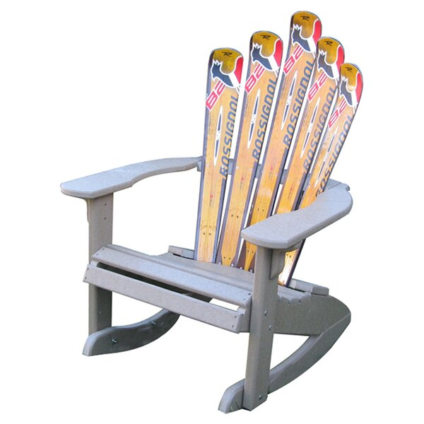 Snow Ski Plastic Adirondack Chair Rocker by Ski Chair