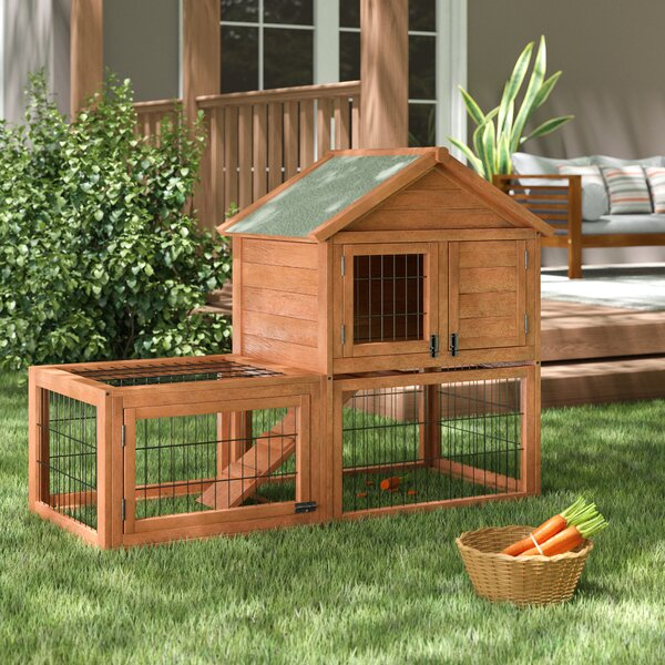 Harley Rabbit Hutch with Outdoor Run by Tucker Murphy Pet