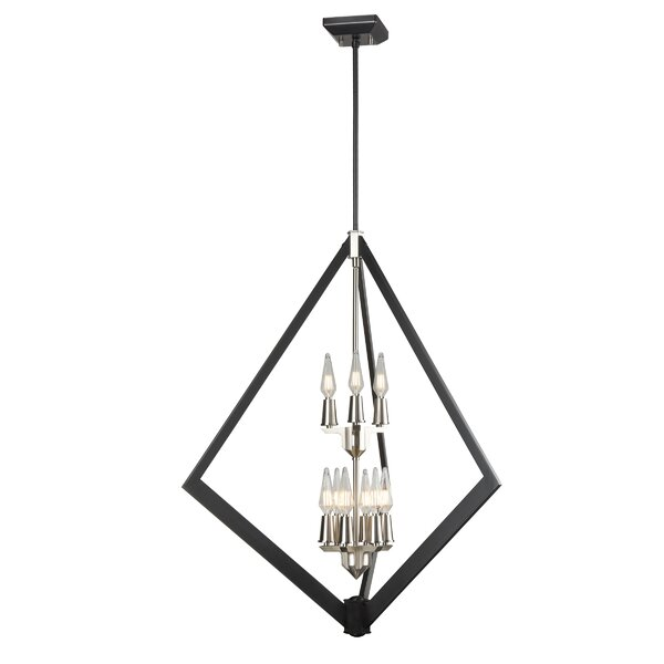 Corvena 9 - Light Unique Geometric Chandelier By Orren Ellis