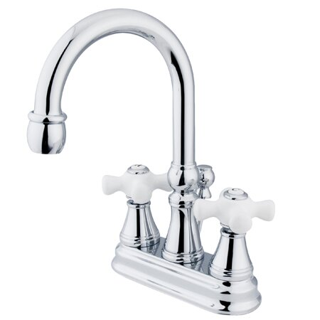 Governor Centerset Bathroom Faucet with Brass Pop-Up Drain by Kingston Brass