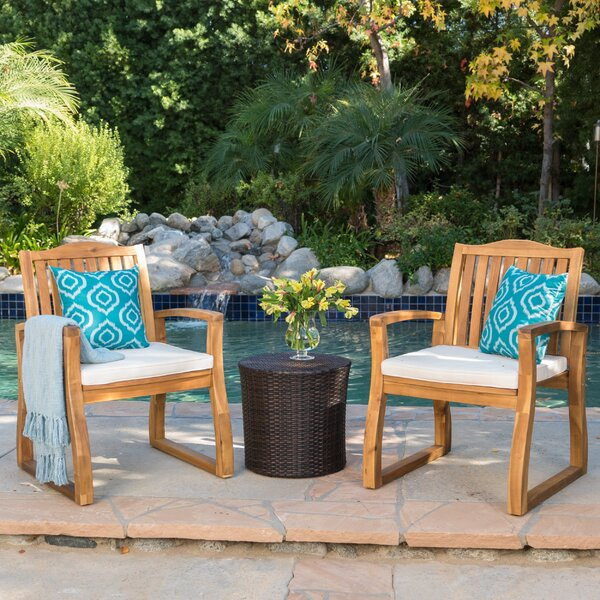 Eslettes 3 Piece Seating Group with Cushions by Laurel Foundry Modern Farmhouse Laurel Foundry Modern Farmhouse