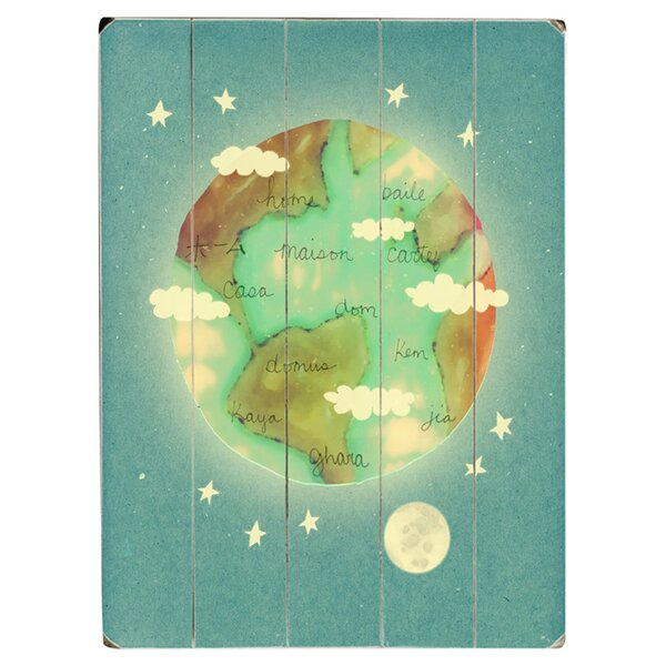 Planet Home Graphic Art Print Multi-Piece Image on Wood by Artehouse LLC