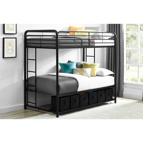 Brogdon Twin over Twin Bunk Bed with Shelf by Harriet Bee