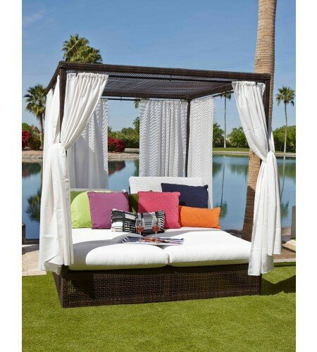 Montecito Patio Daybed with Cushions by Woodard Woodard