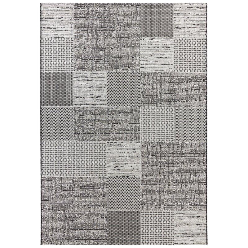 Agen Flatweave Grey Indoor Outdoor Rug