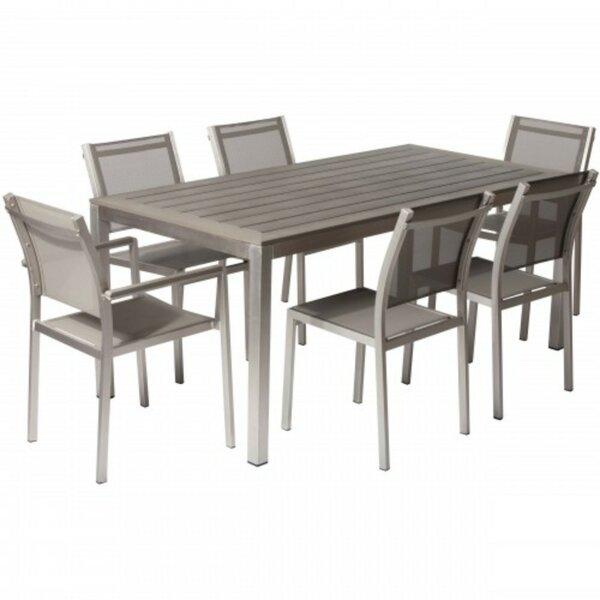 Lemons Anodized Aluminum Outdoor 7 Piece Dining Set by Orren Ellis