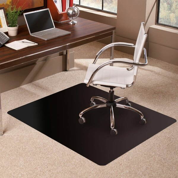 TrendSetter Rectangle Low Pile Carpet Straight Edge Chair Mat by ES Robbins Corporation