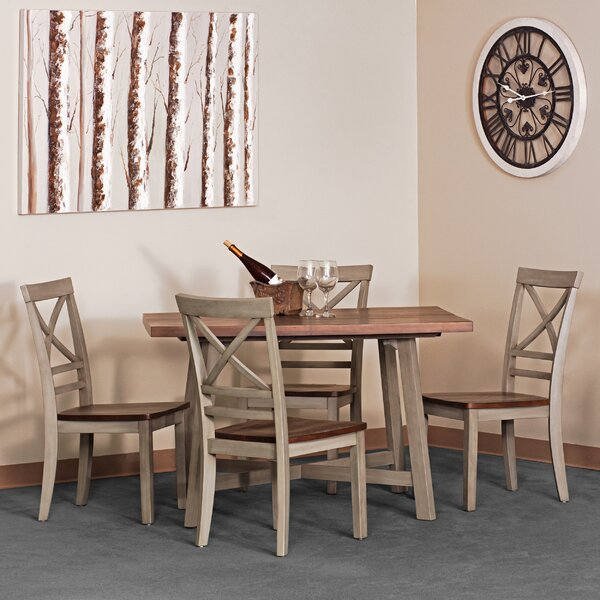 Anniston Farmhouse 5 Piece Dining Set by Gracie Oaks