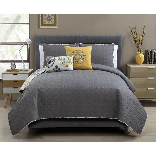 Karle 5 Piece Reversible Full/Queen Quilt Set by Charlton Home