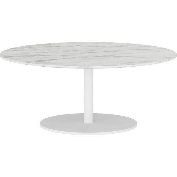 Fina Pedestal Coffee Table By Orren Ellis