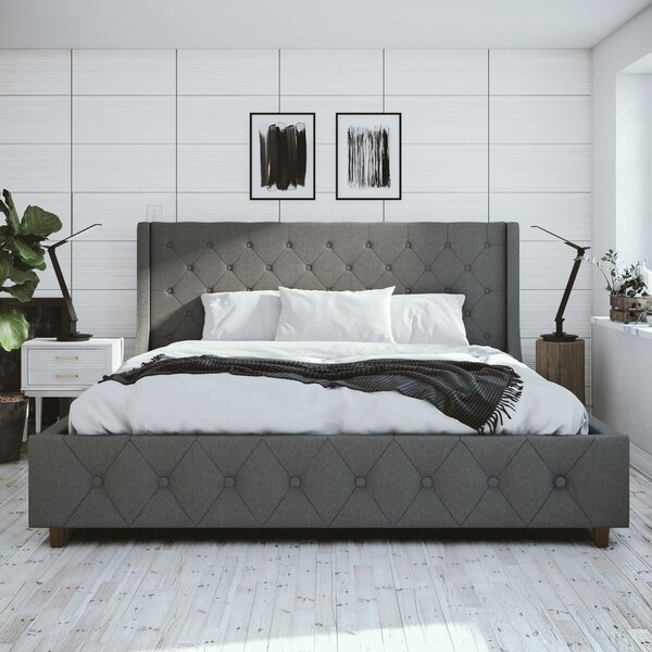 Mercer Upholstered Platform Bed by CosmoLiving by Cosmopolitan