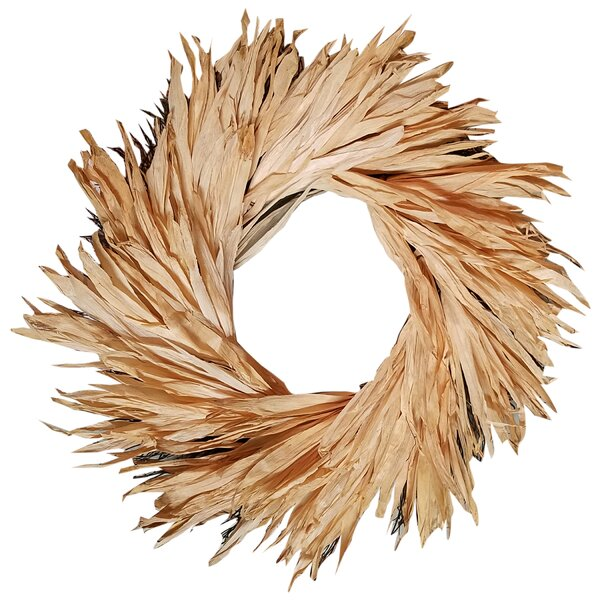 20 Corn Husk Wreath by August Grove