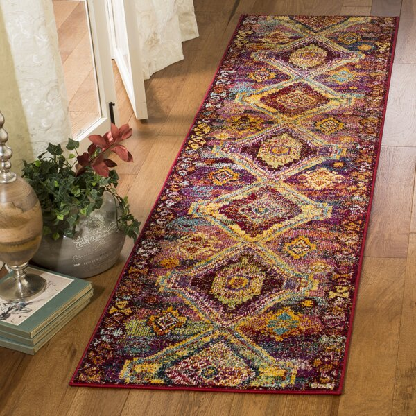 Mcintosh Boho Yellow/Pink Area Rug  by Bloomsbury Market
