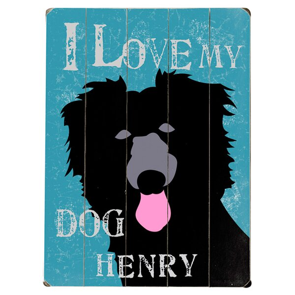 Personalized Dog Graphic Art Print Multi-Piece Image on Wood by Artehouse LLC
