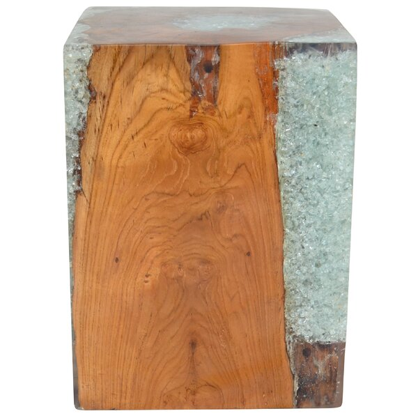 Mosley Teak Decorative Stool by Bloomsbury Market