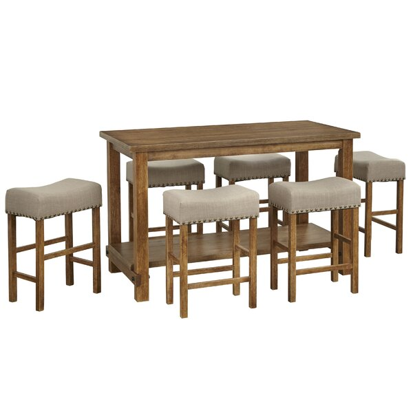 Hendina 7 Piece Counter Height Pub Table Set by Gracie Oaks