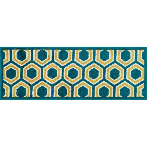 Laudenslager Green/Yellow Area Rug by Ebern Designs