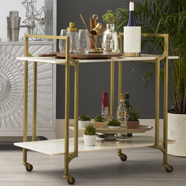 Hyacinth Shelf Bar Cart By One Allium Way Cheap