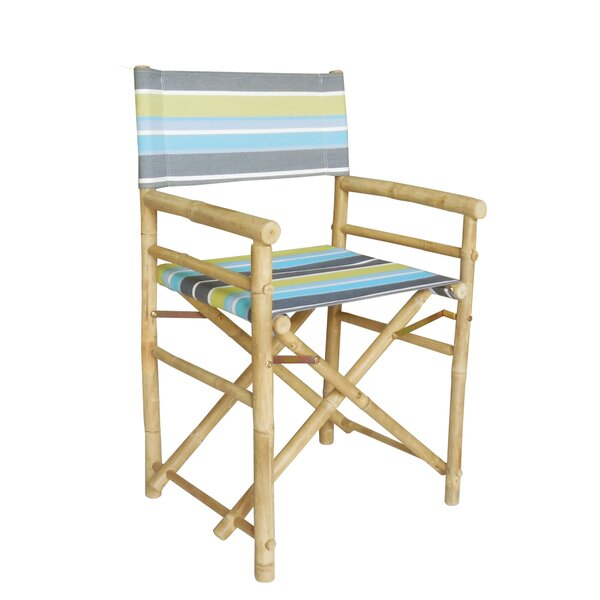 Hand Crafted Folding Director Chair (Set of 2) by ZEW Inc ZEW Inc