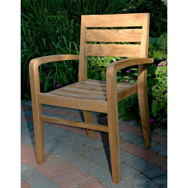 Cronk Stacking Teak Patio Dining Chair by Brayden Studio