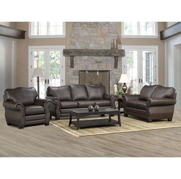 Jettie Leather Configurable Living Room Set by Fleur De Lis Living