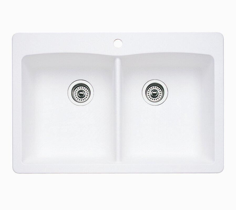 33 Elgin 6040 Bisque DoubleBowl Cast Iron Dropin Kitchen Sink. 46 ...