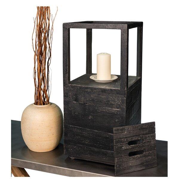 Weathered Wood/Glass Lantern by Sarreid Ltd