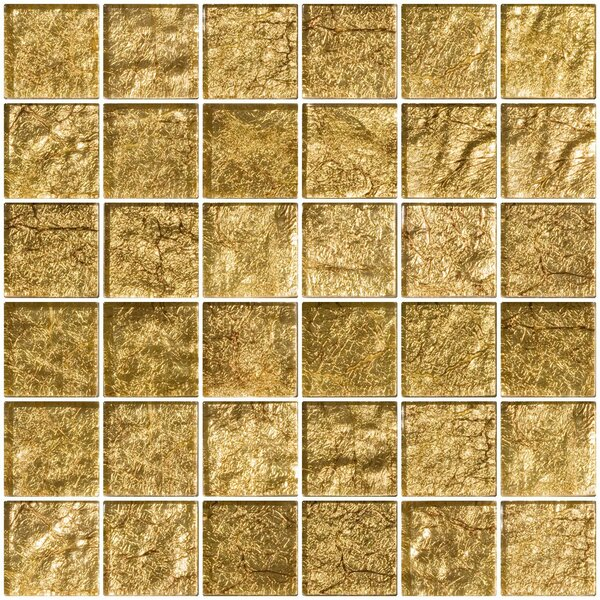 2 x 2 Glass Mosaic Tile in Tahitian Bronze by Susan Jablon