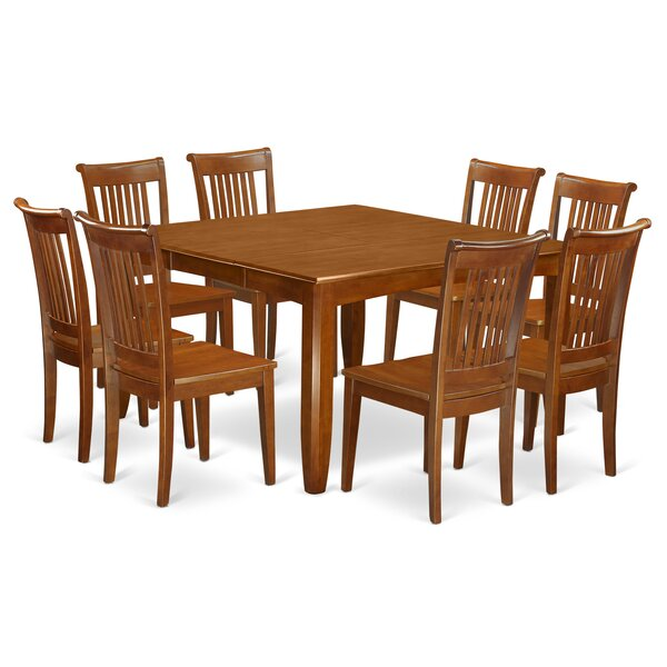 Teressa 9 Piece Extendable Dining Set by Alcott Hill Alcott Hill
