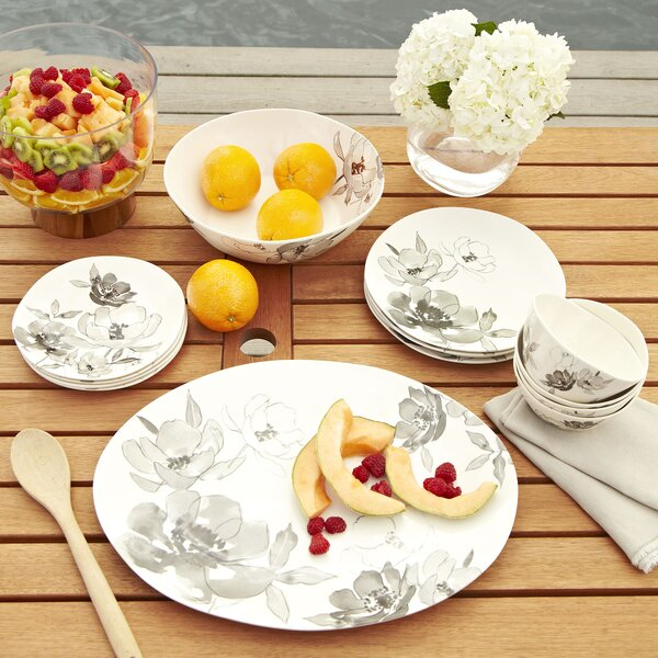 Toulouse Melamine 12 Piece Dinnerware Set, Service for 4 by Birch Lane™